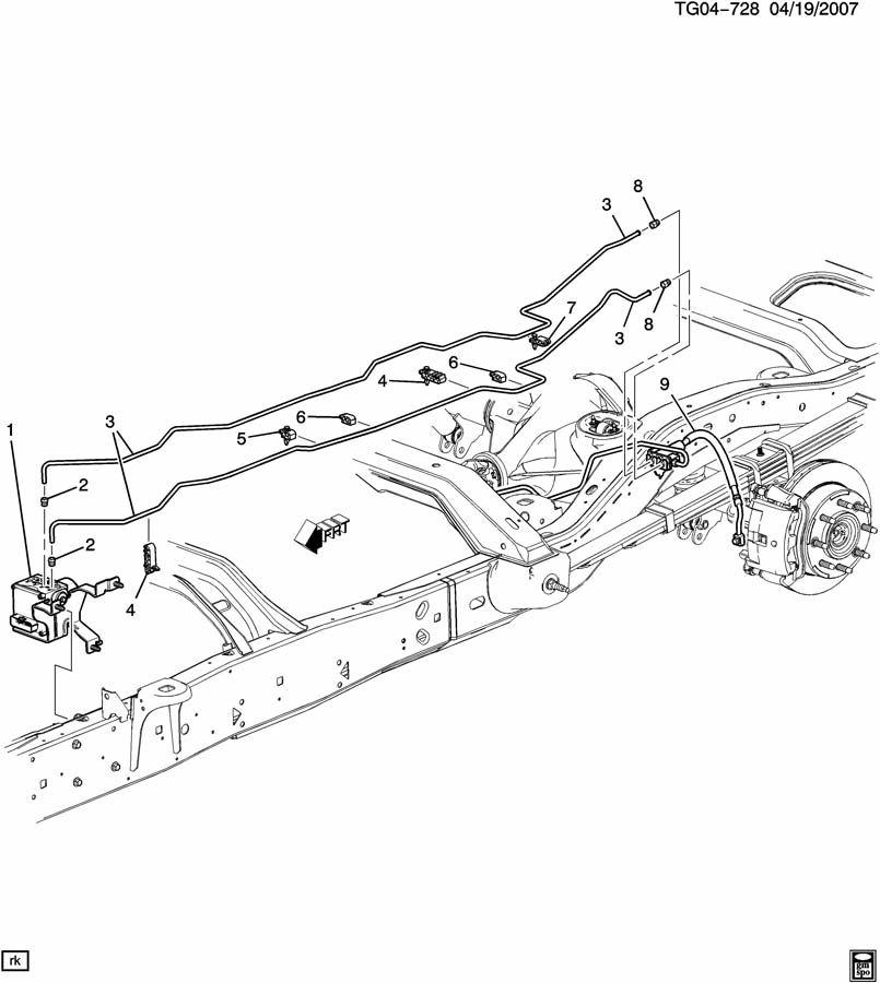 Chevrolet EXPRESS Clip. Hydraulic brake. Hydraulic brake