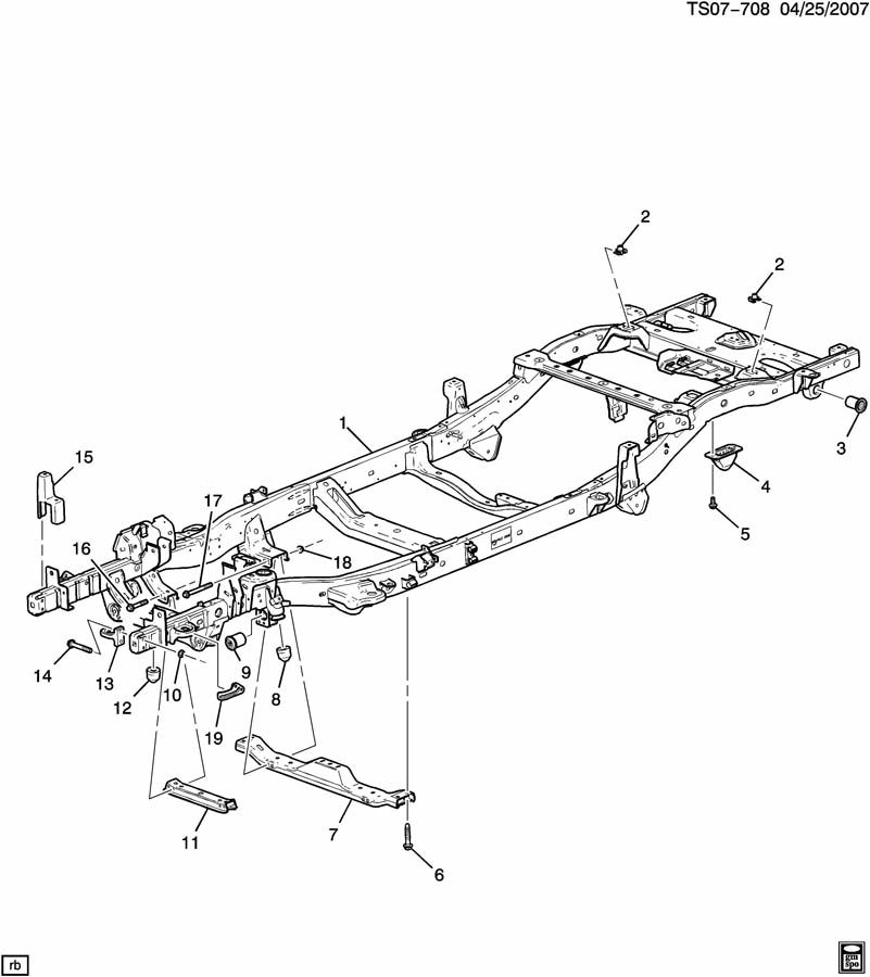 Chevrolet COLORADO Frame. Chassis. Frame, chassis