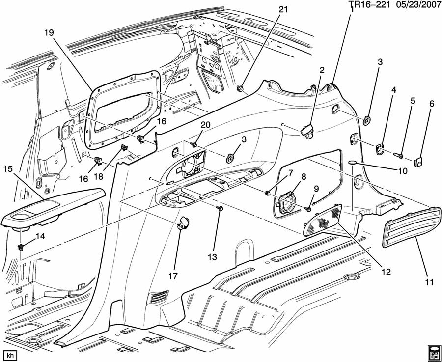 GMC ACADIA Guide. Seat belt. Guide, r/seat shldr belt