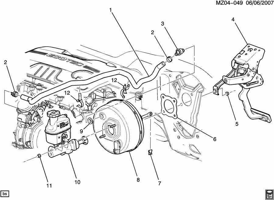 Chevrolet Silverado Valve kit. Vacuum power brake booster