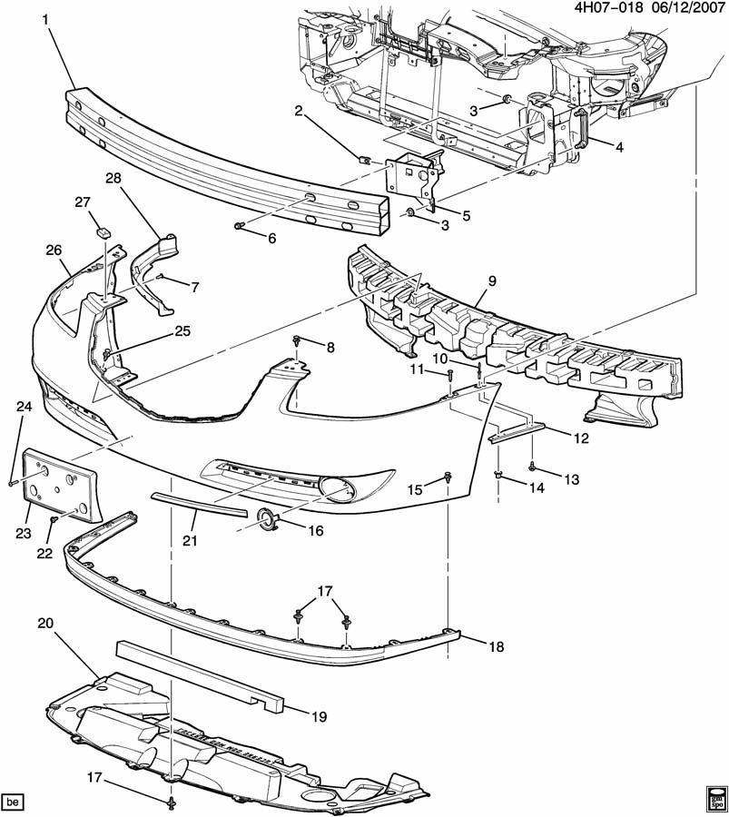 Buick Lucerne Deflector. Bumper/fascia. Fasciamay