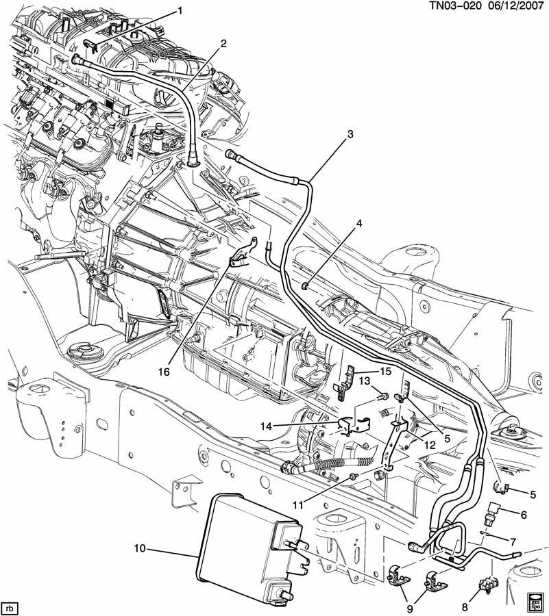 Hummer H2 Hose. Fuel line. Hose, fuel feed & evap emis