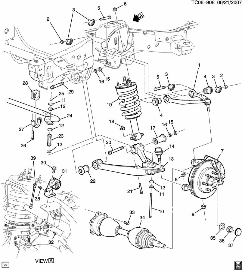 2002 chevy trailblazer front axle diagram 1995 s10 starter wiring truck end database suspension
