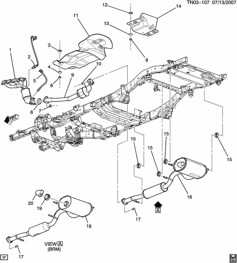 Hummer H3 N1 EXHAUST SYSTEM (LLR/3.7E);