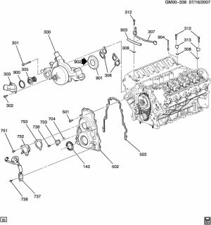 12602541  GM Seal Engine coolant by  passenger