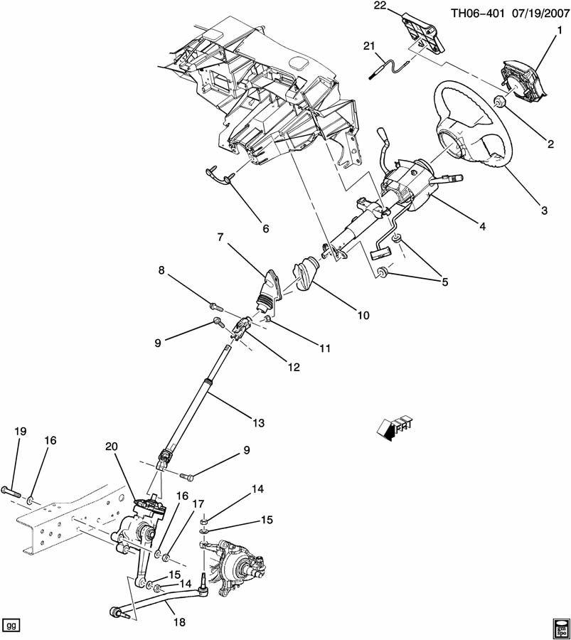 GMC C4500 Shaft. Steering shaft intermediate. Shaft, lwr