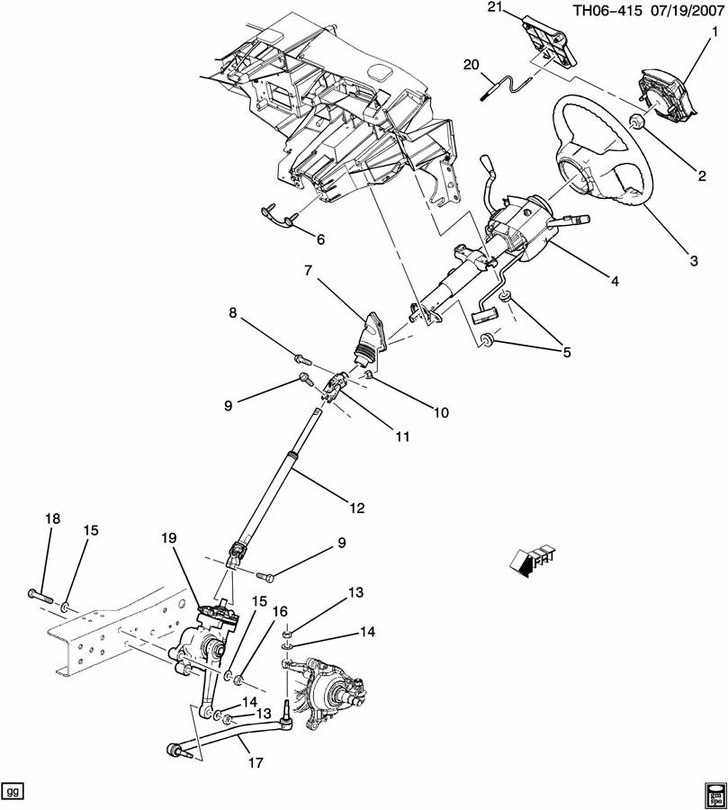 GMC C4500 STEERING SYSTEM & RELATED PARTS