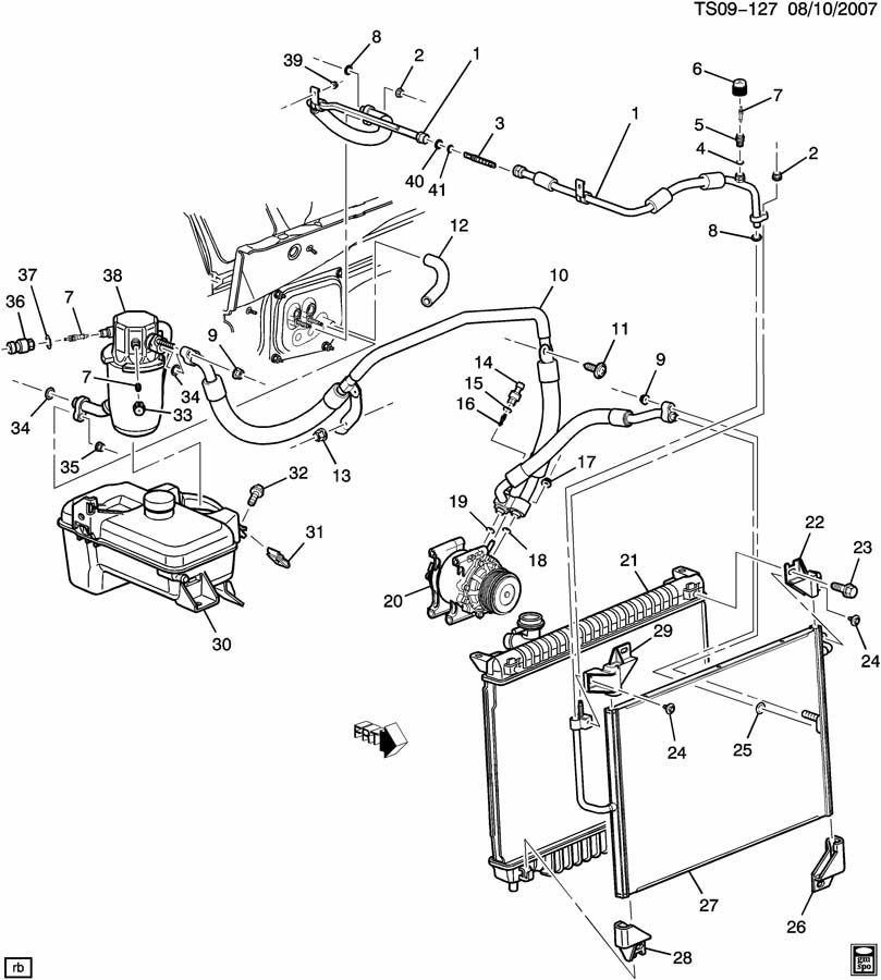 Chevrolet TRAILBLAZER Accumulator. Air conditioning (a/c
