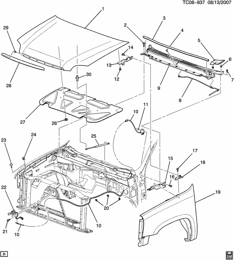 Cadillac ESCALADE Panel. Cowl ventilator. Panel, air inl