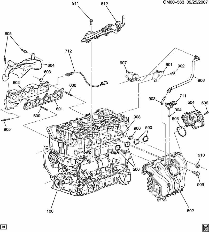 Chevrolet Cobalt Gasket. Manifold to cylinder head. Gasket