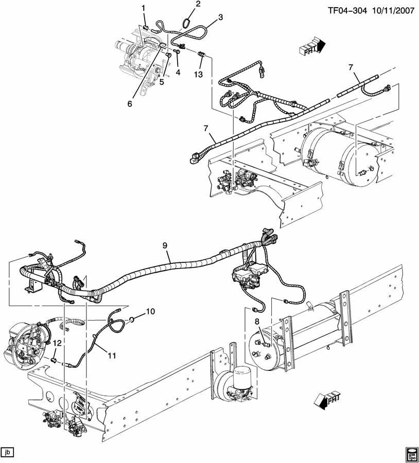 GMC C8500 Switch. Brake press indicator. Switchlow