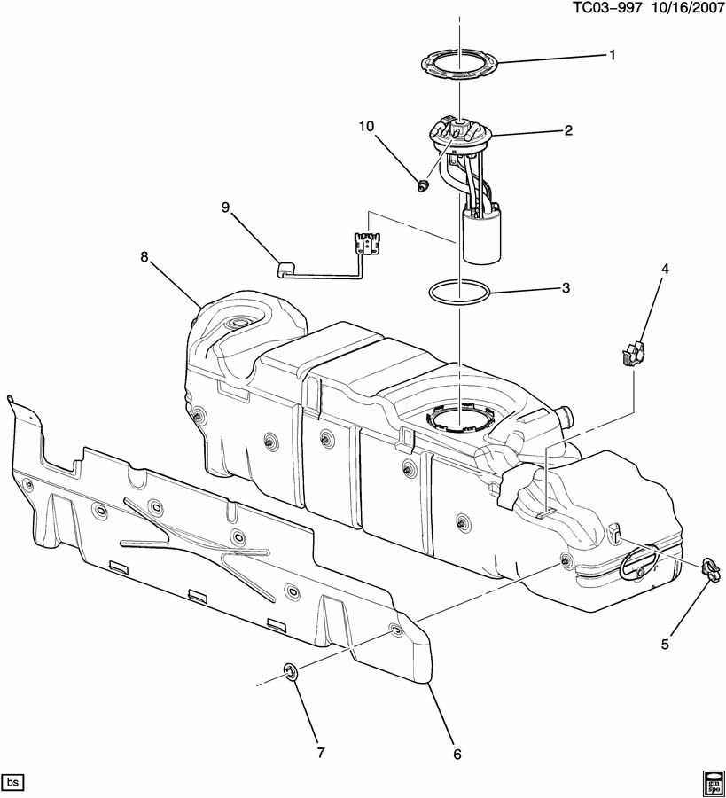 Service manual [2008 Gmc Sierra Change Gas Tank Vent Line