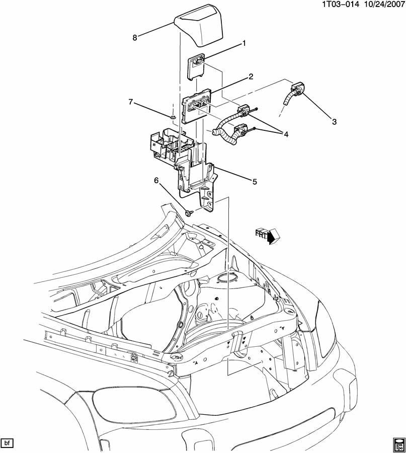 Chevrolet HHR Cover. Emission control system. Cover, ecm