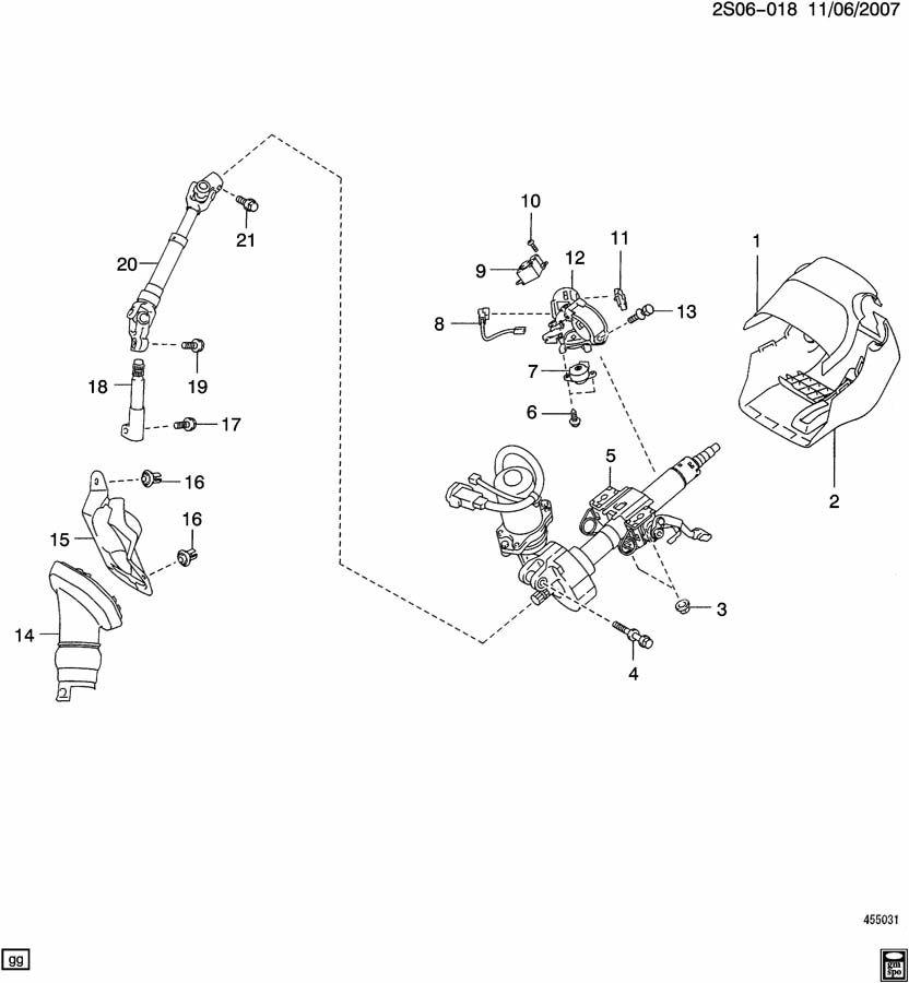2009 Pontiac Vibe Shaft. Steering column intermediate