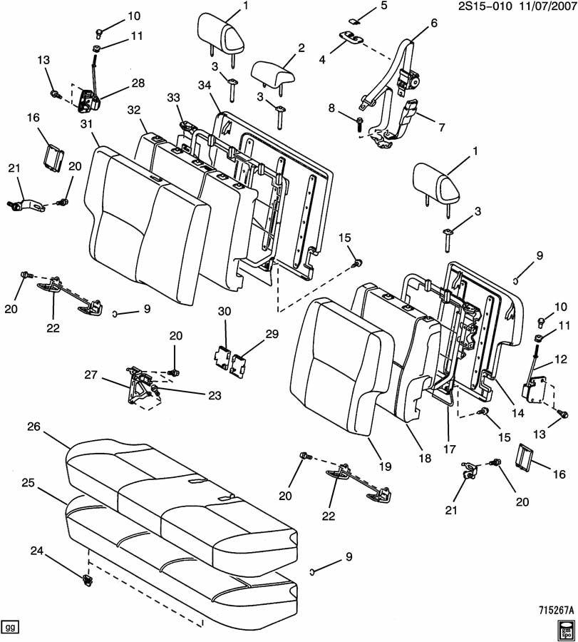 Pontiac Vibe Belt kit. Seat belt. Belt kit, r/seat ctr(bkl