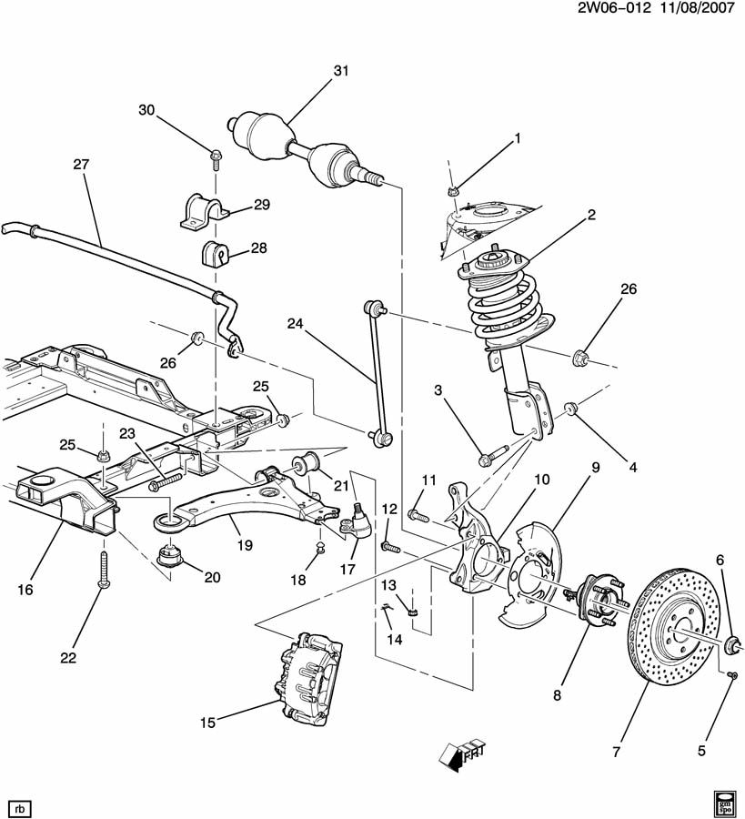 Service manual [2007 Pontiac Grand Prix Front Spring