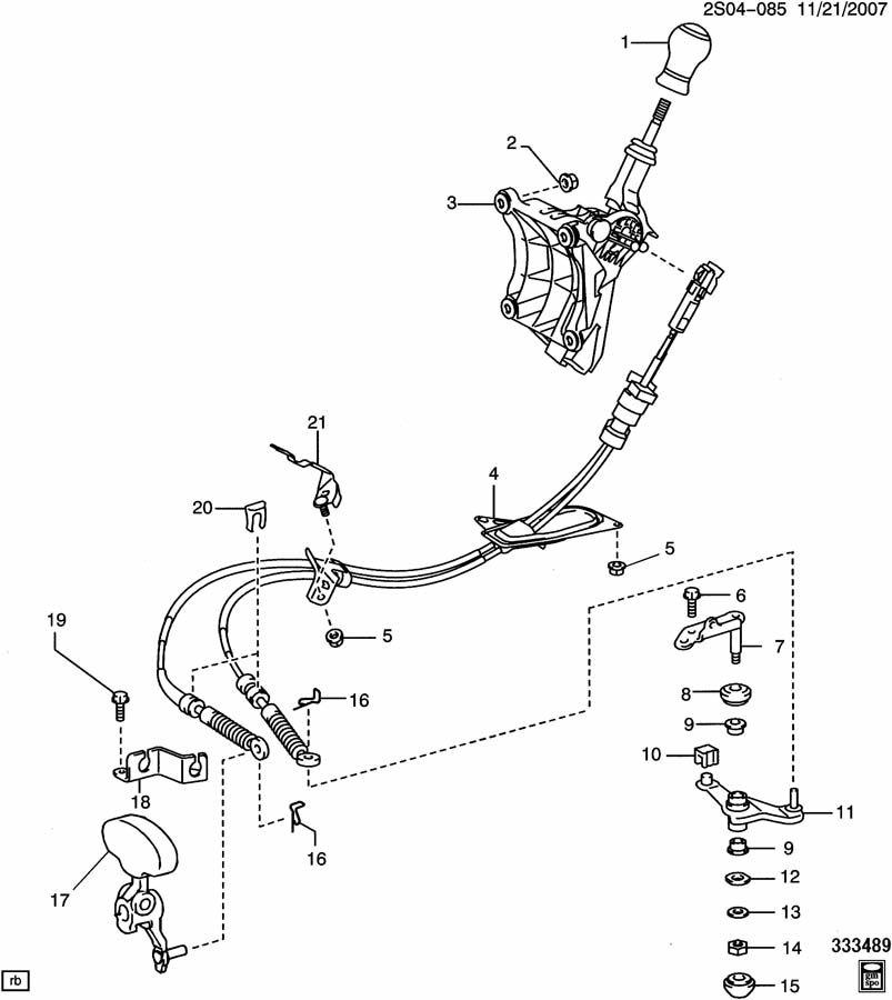 Pontiac Vibe Insulator. Transmission control lever