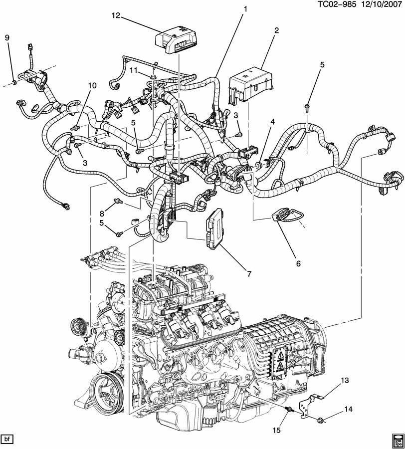 2011 GMC YUKON DENALI 4DR Bracket. Chassis/engine wiring