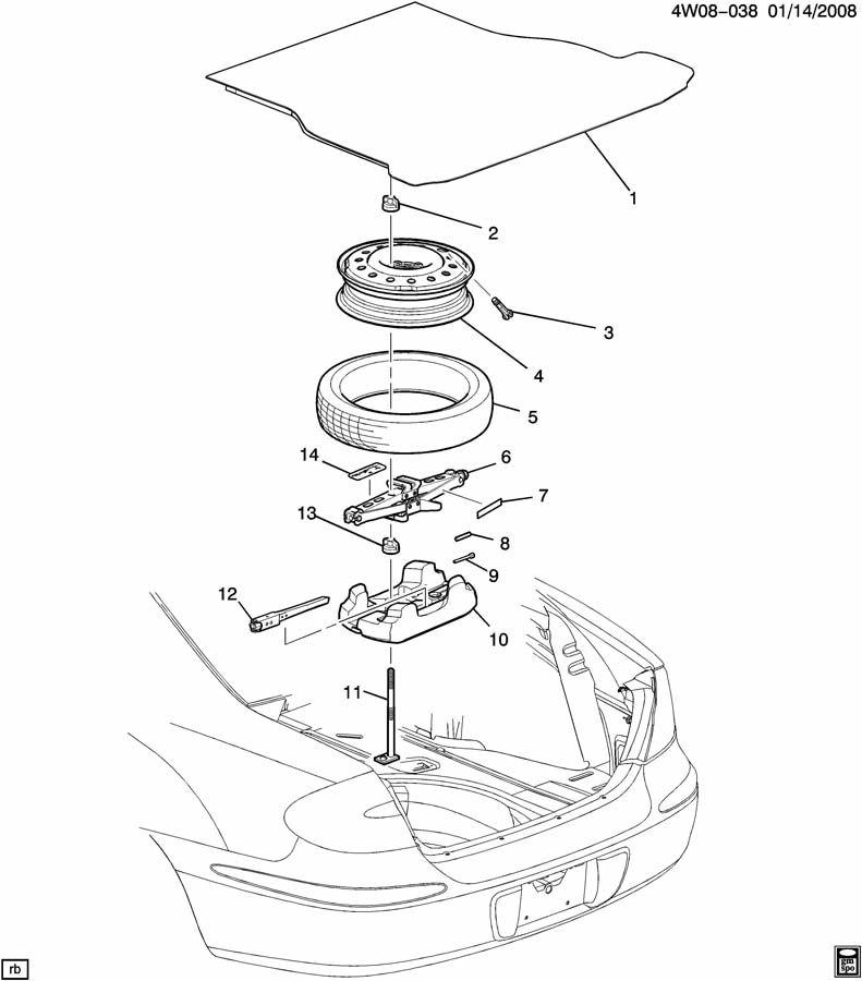 Buick LaCrosse Retainer. Insulator. Exhaust muffler