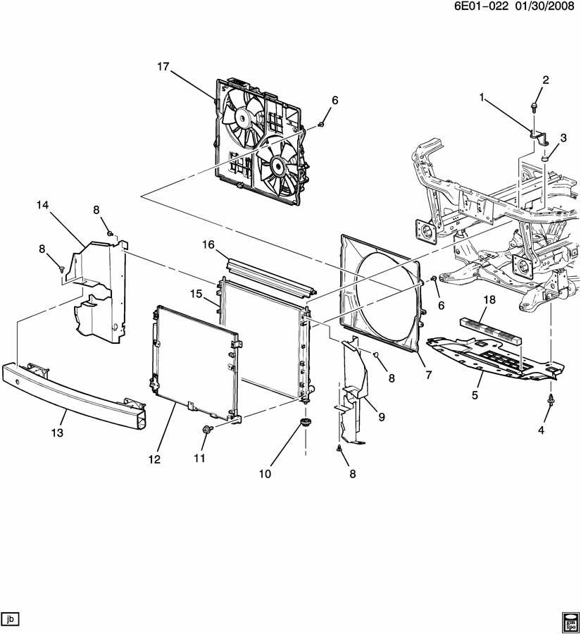 Cadillac SRX Deflector. Radiator air. Deflector, frt air