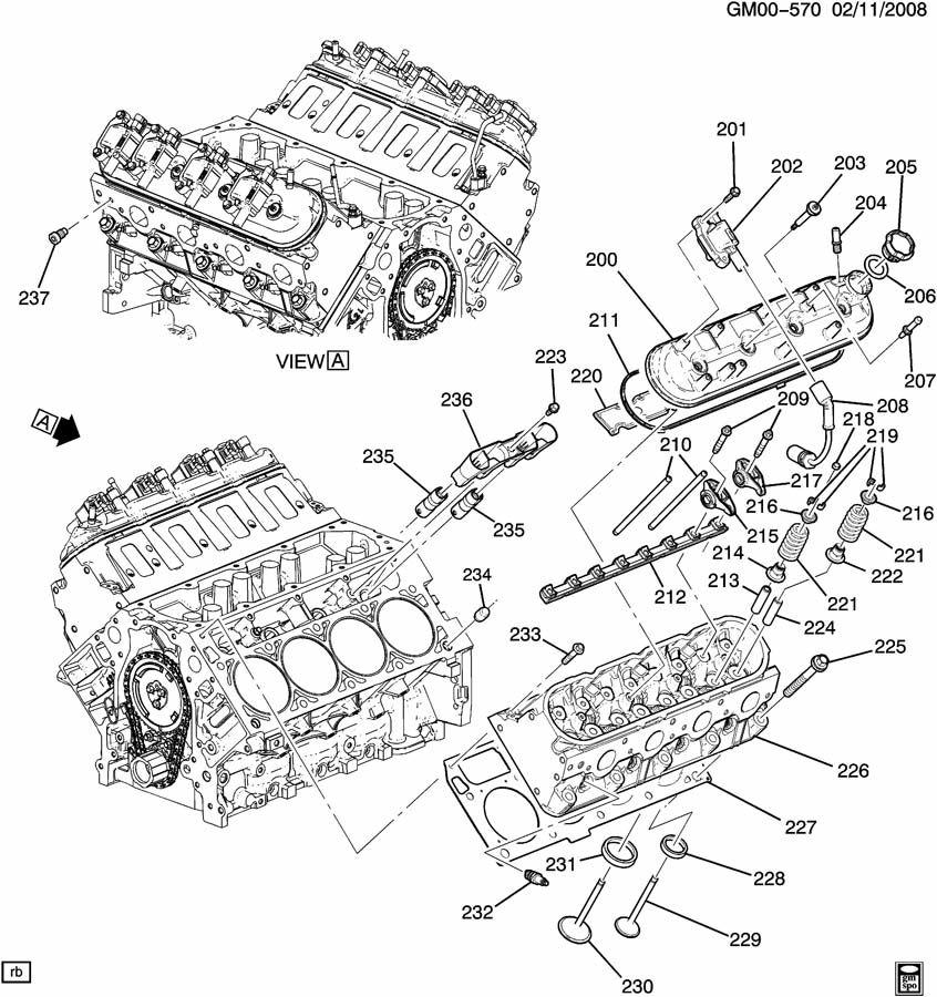 Chevrolet Corvette ENGINE ASM-6.2L V8 PART 2 CYLINDER HEAD