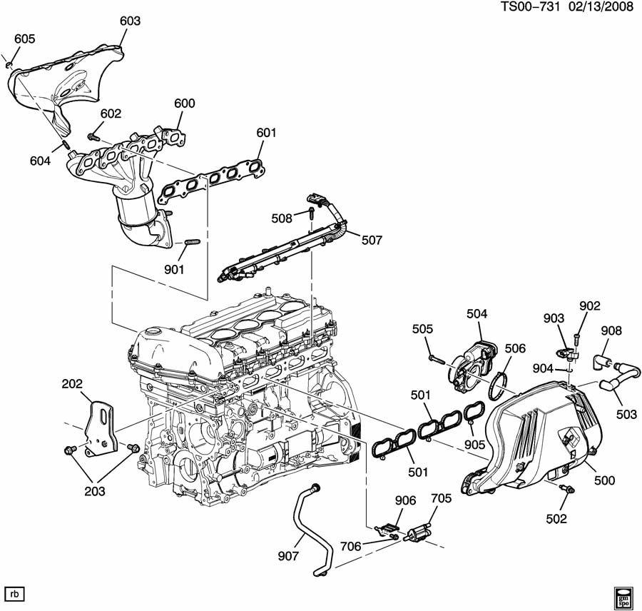 Chevrolet COLORADO Bolt. Intake & exhaust manifold. Bolt
