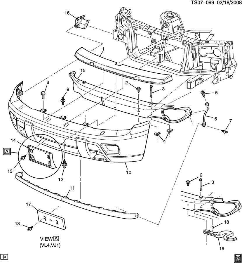 Chevrolet TRAILBLAZER BUMPER/FRONT