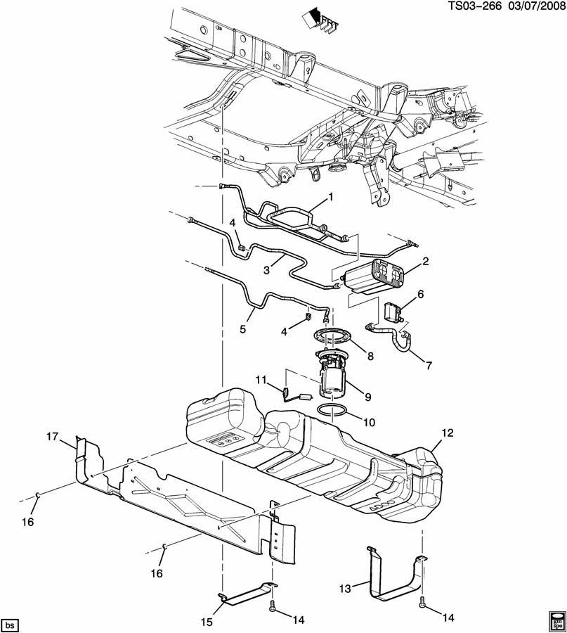 Chevrolet TRAILBLAZER Pipe. Evaporation emission system