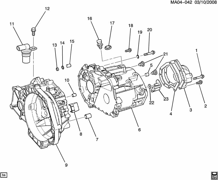 [Exploded View Of 2005 Pontiac Aztek Manual Gearbox