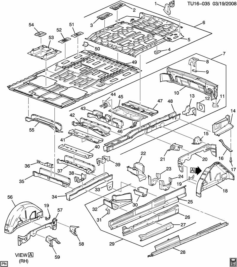 Chevrolet UPLANDER Bracket. Exhaust muffler/resonator