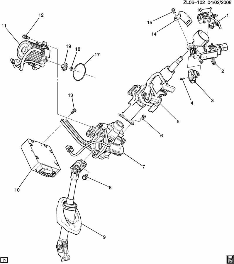 Chevrolet Equinox Column. Steering. Columnstrgcolumn