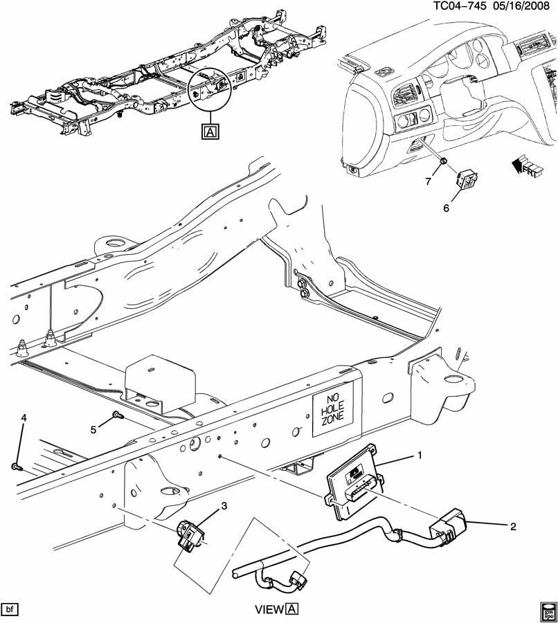 Chevrolet Silverado 2500 Module. Electronic brake control