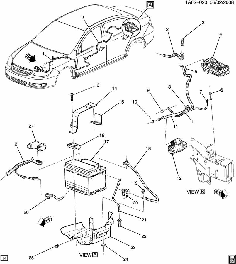 Chevrolet Cobalt Sensor. Battery. Sensorbat, cur