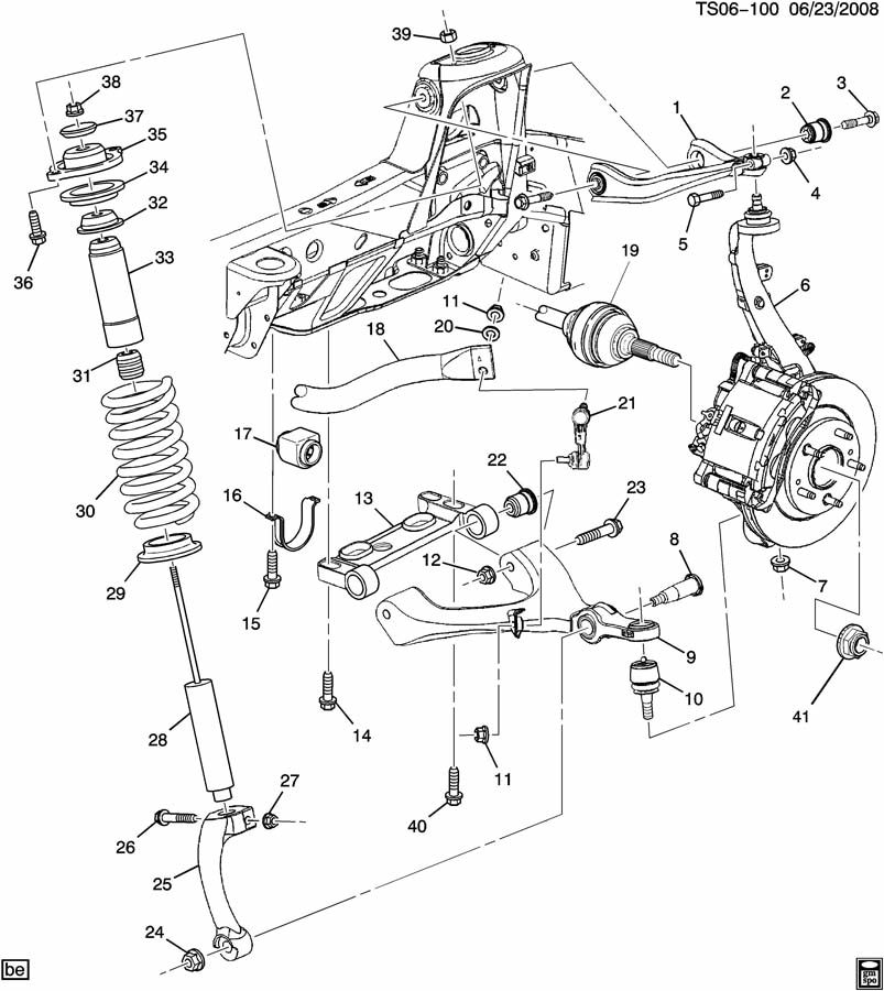 Buick RAINIER Absorber. Front and rear suspension