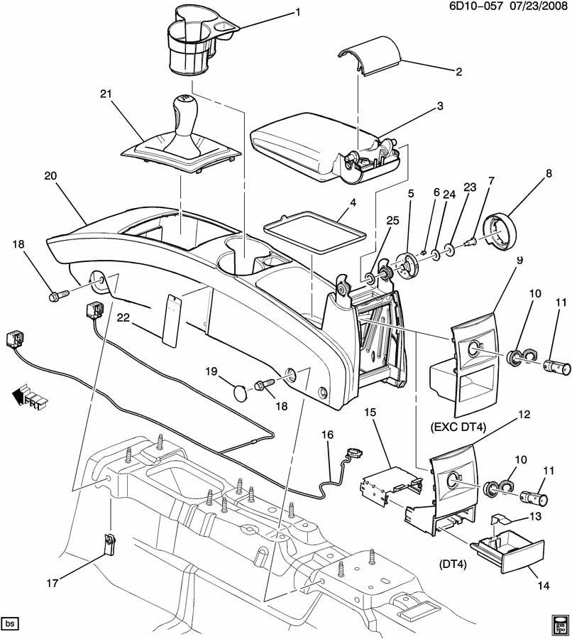 Cadillac CTS Armrest. Floor console. Armrest, f/flr cnsl