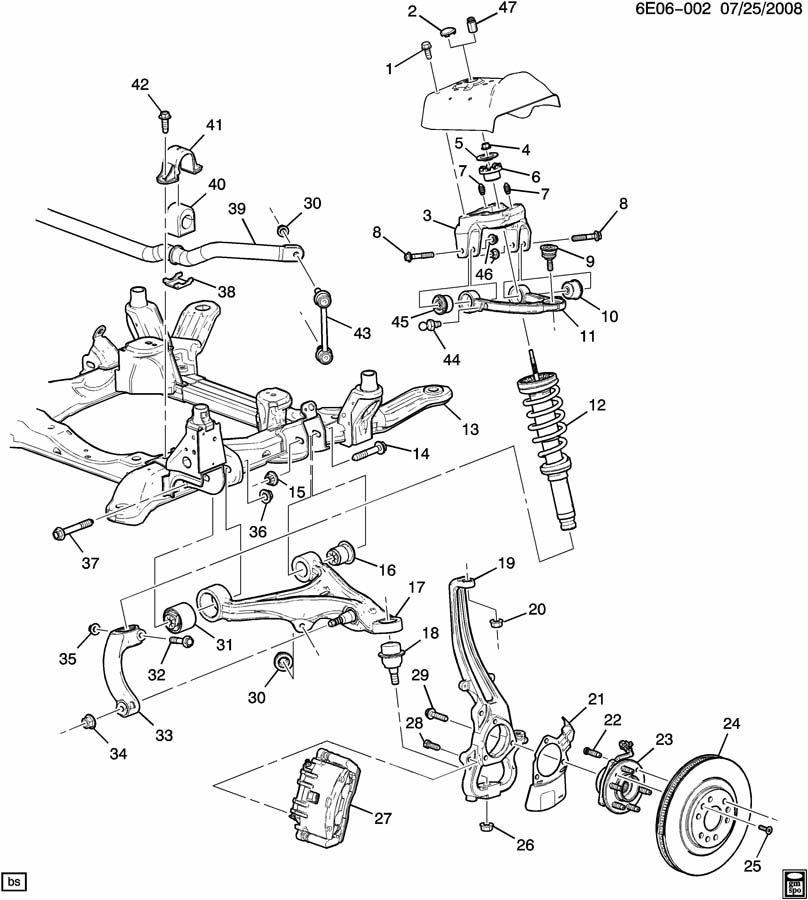 Cadillac SRX SUSPENSION/FRONT