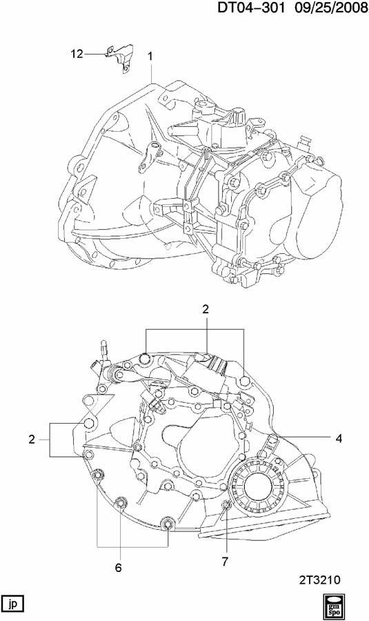 Chevrolet Aveo Cover. Flywheel & clutch & converter