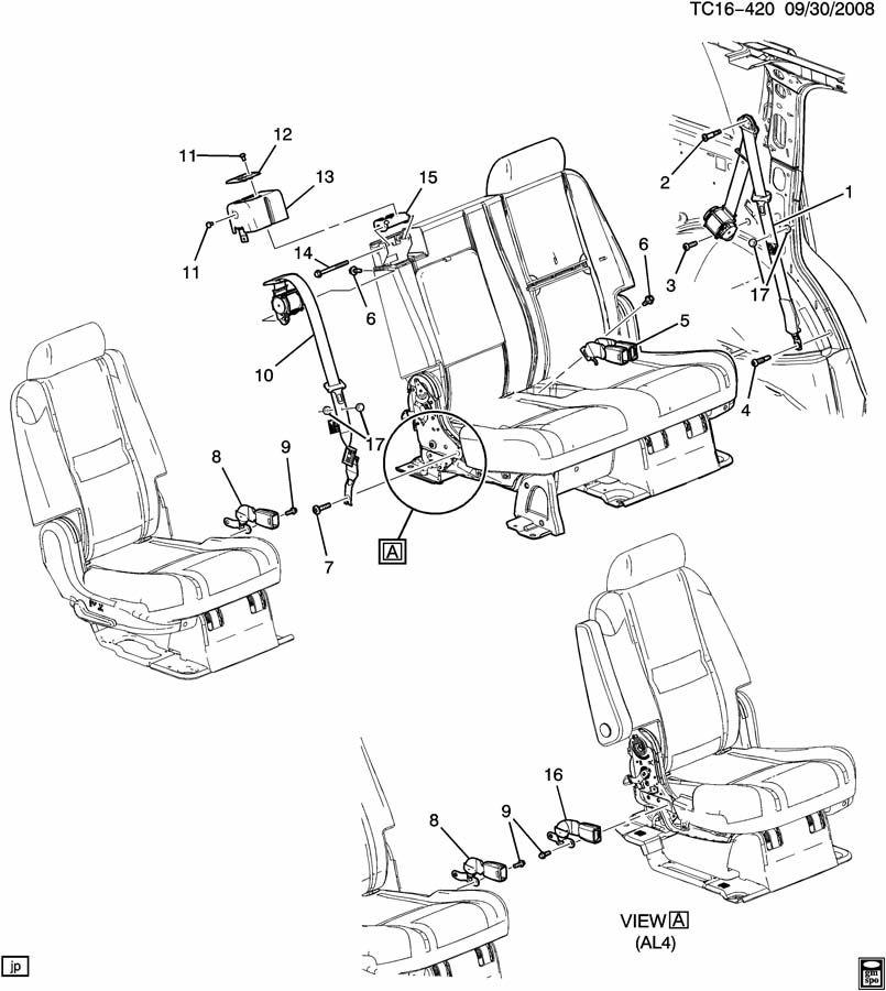 GMC YUKON Belt. Seat belt. Belt, r/seat ctr shldr(retr si
