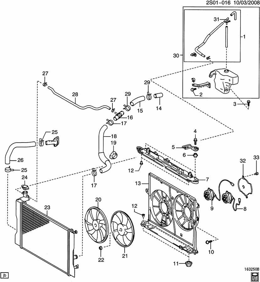 Pontiac Vibe Pipe. Radiator inlet (upper). Pipe, rad inl
