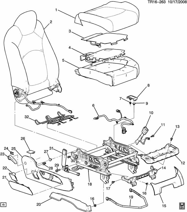 Chevrolet Traverse Cover. Seat cushion. Cover, p/seat cush