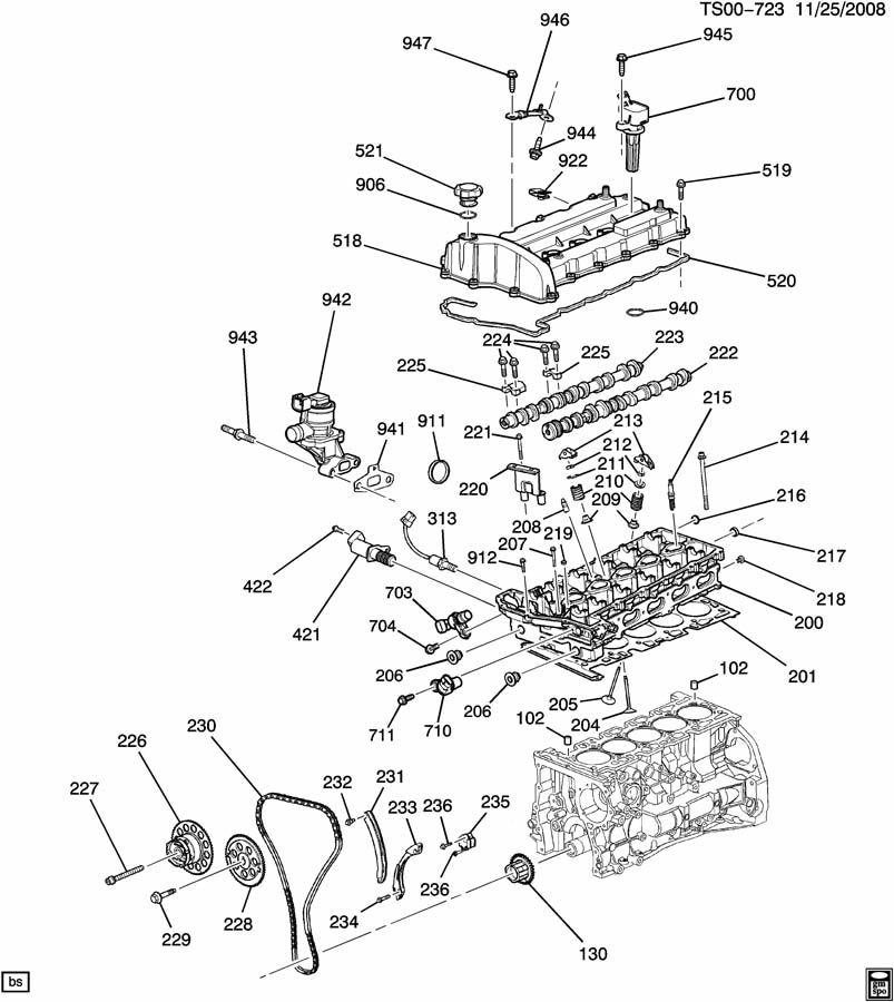 Chevrolet COLORADO Cover. Engine valve rocker & camshaft