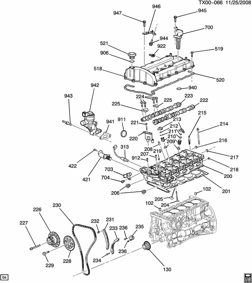ENGINE ASM-3.7L L5 PART 2 CYLINDER HEAD & RELATED PARTS