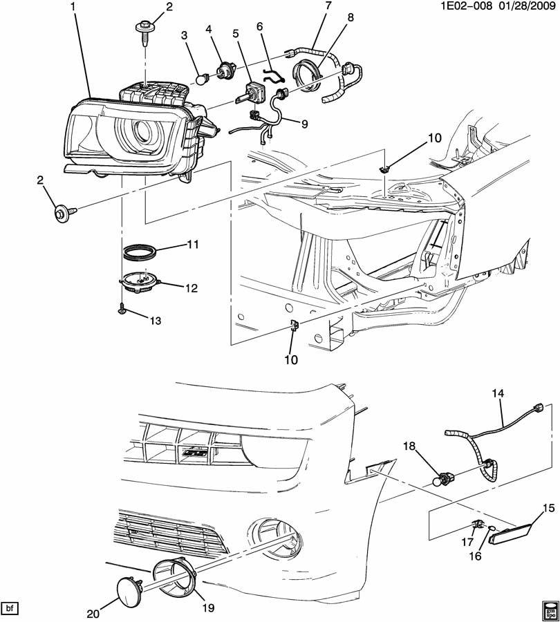 2012 Chevrolet Camaro LT (1LT) 2DR Lamp. Capsule/headlamp