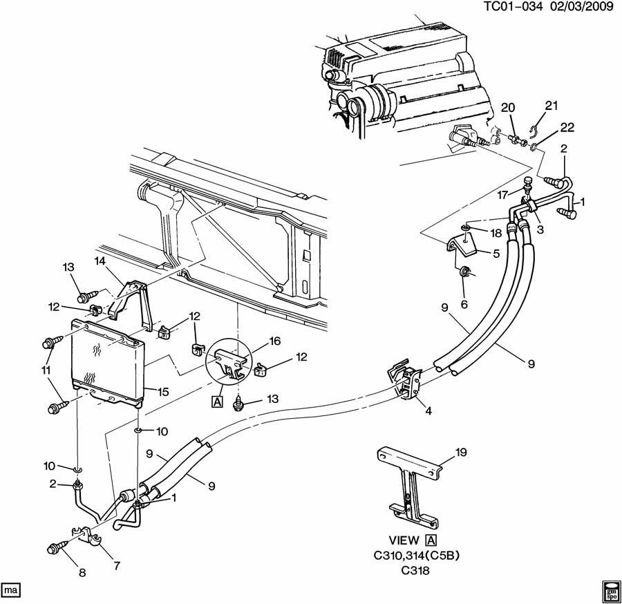 Chevrolet K2500 Insulator. Engine oil cooler. Insulator