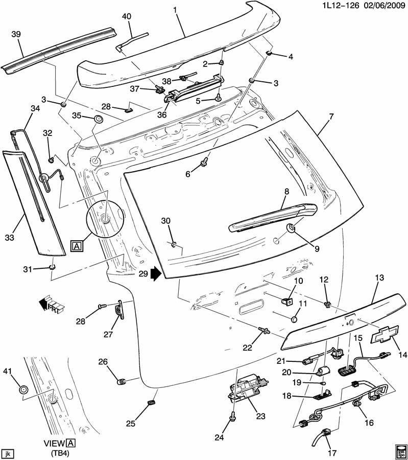 Chevrolet Equinox Harness. Body wiring. Harness, l/gate