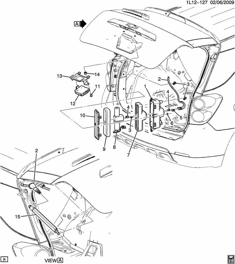 Chevrolet Equinox LIFTGATE HARDWARE PART 3 ACTUATOR