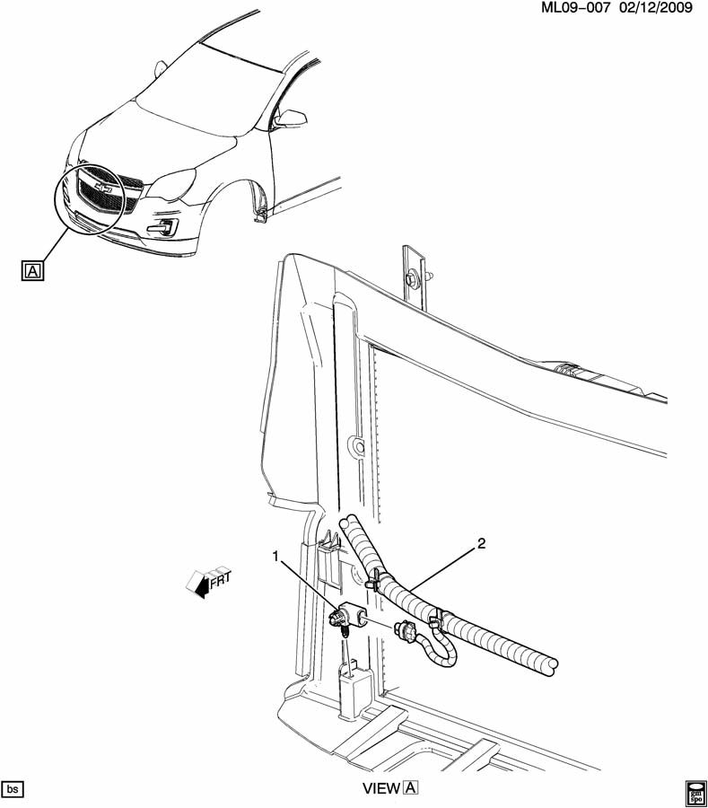 Chevrolet Equinox Sensor. Ambient outside air temperature