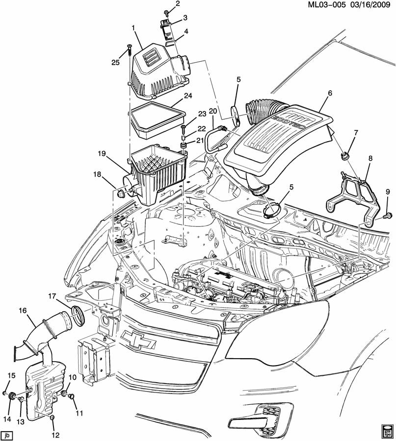Chevrolet Equinox Grommet. Engine fuel intake manifold