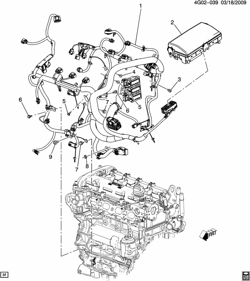 Buick LaCrosse Harness. Engine wiring. Harness, eng wrg