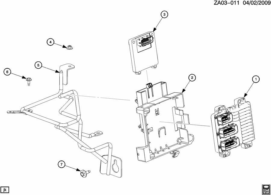 Saturn Ion Bracket. Emission control system. Bracket, ecm